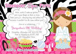 spa slumber invitations cimvitation