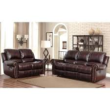 3 piece recliner sofa set leather reclining couch top grain leather reclining 2 piece living