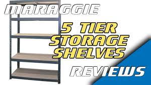 1 8m heavy duty metal 5 tier storage shelves assembly u0026 review