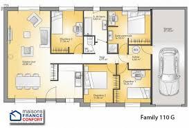 plan maison plain pied gratuit 4 chambres modele maison cubique plain pied lorraine chaios com