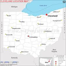 ohio on us map where is cleveland ohio where is cleveland oh located in usa