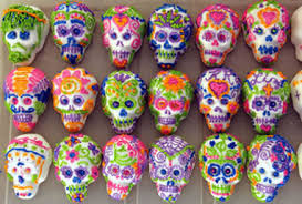 sugar skulls meaning and decorating with shelle