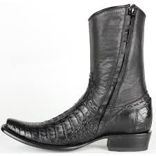 best king exotic fuscus caiman belly boots with zipper crocodile