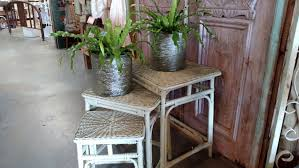 vintage rattan nesting tables vintage rattan and wicker nesting tables finds of all kinds