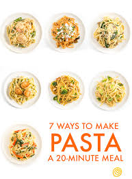 your template for a quick pasta dinner 7 delicious ways kitchn