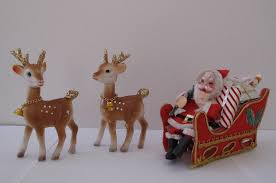 Reindeer Decoration Vintage Santa Sleigh And Reindeer Decorations 1960s Flickr