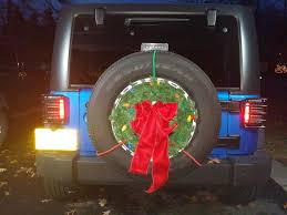jeep christmas wreath tis the season jeep wrangler forum