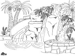water slide coloring pages for kids and for adults aquarium