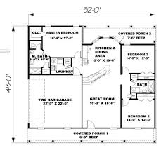 3 Bedroom Ranch Floor Plans Classy 1500 Square Foot Ranch House Plans Without Garage 3 Bedroom