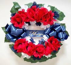 artificial flower wreaths for cemeteries grave and memorial