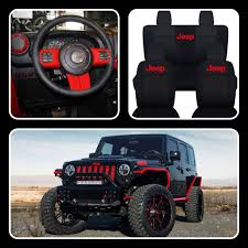 girly jeep accessories black jeep with red accents jeeps pinterest red accents