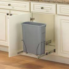 trash can cabinet insert pull out trash cans kitchen cabinet organizers the home depot