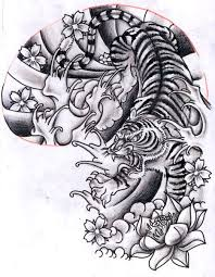 flowers and tiger design my for sure tattoos