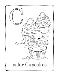 printable birthday cupcake coloring pages kids