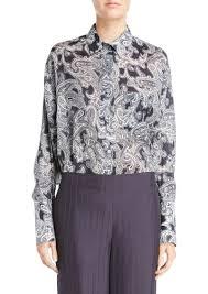paisley blouse acne acne studios bai paisley blouse casual shirts shop it to me