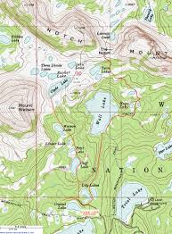 Topographical Map Of New Mexico by Topographic Map Of The Notch Mountain Trail Uinta Mountains Utah