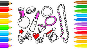 drawing pages set accessories u0026 coloring for childrens how