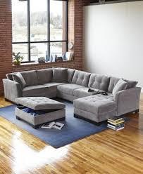 sofa decorative 3 piece sectional sofa microfiber square black