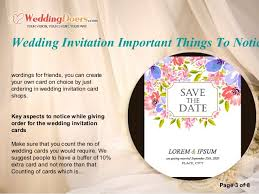 wedding invitation software wedding invitation important things to notice