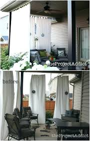 Outdoor Privacy Curtains Outdoor Privacy Curtains For Patio A Gorgeous Back Deck With A Bay