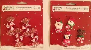 free 2 packages of time mini ornaments peppermint