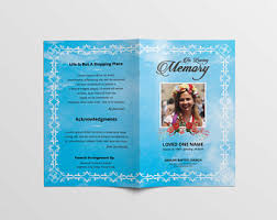 printable funeral programs funeral service etsy