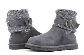 womens ugg cambridge boot grey ugg 1006735 cambridge boot size 9 gray textile and suede