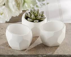 kate aspen white plaster planter wedding decor by kate aspen