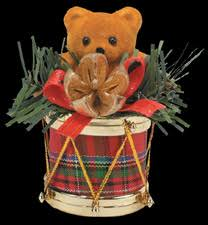 drum bum miscell with plaid drums ornament