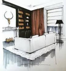 эскиз кухонной зоны kitchen sketch by hand restaurants u0026 bars
