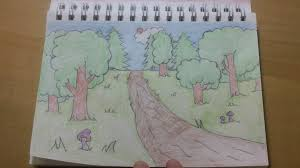 191 how to draw cool easy cartoon forest background youtube
