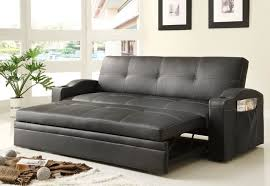 Tufted Faux Leather Sofa by Contrast Piping Tufted Faux Leather Futon Sofa Bed Wondrous Art