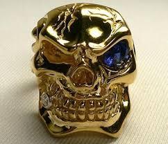 gold skull rings images Solid 14k gold skull ring jpg