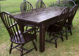 Espresso Dining Room Furniture Espresso Farmhouse Dining Room Table Finished With Antique Railing