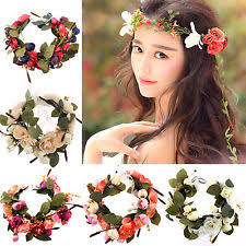 flower hair band hair wreath ebay