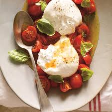 cuisiner les tomates cerises burrata à la tomate cerise confite ricardo