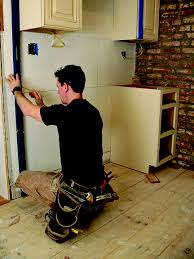 best way to install base cabinets how to install kitchen cabinets house journal magazine