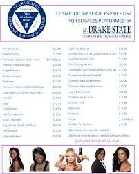 Job Description Of Cosmetologist Drake State Community And Technical College Cosmetology J F