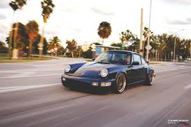 stanced porsche 964 lowered porsche 911 carrera 2 964 side
