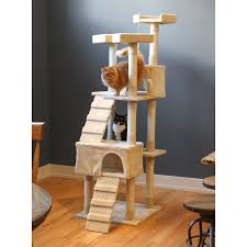 Cat Furniture Kitty Mansions Beverly Hills 73 In Cat Tree Hayneedle