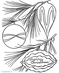 tree ornaments coloring pages free