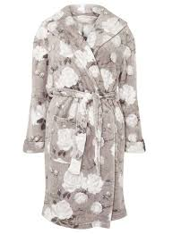 dressing gown grey floral printed dressing gown view all sale sale dorothy