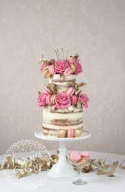 stunning gold and pink themed cake by juniper cakery cakes