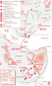 Istanbul Map Istanbul Map Underground Walking Tour Trail Directions Route
