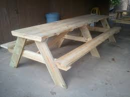 Picnic Table With Benches Plans 10 U2032 Picnic Tables Jays Custom Creations