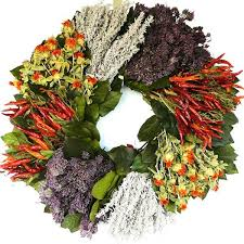 herb wreath dried southwest herb wreath 19 inch
