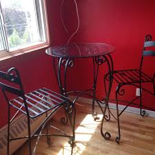 Pier One Bistro Table And Chairs Best Bistro Wrought Iron Pier 1 Glass Table And Two High Chairs