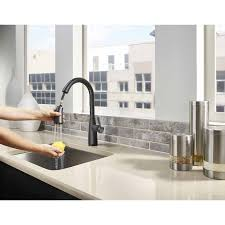 Traditional Kitchen Faucet by Shop Pfister Raya Black 1 Handle Pull Down Sink Counter Mount
