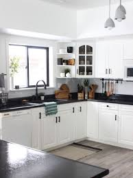 two tone kitchen cabinets with black countertops white kitchen cabinets with black countertops are the next