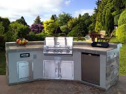 outdoor kitchen island outdoor l shaped outdoor kitchen island with bbq grill and marble